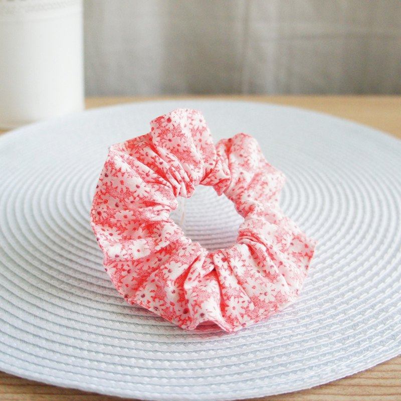 Lovely [Japanese cloth] sweet small flower hair bundle, large intestine hair bundle, donut [3 colors each 1]