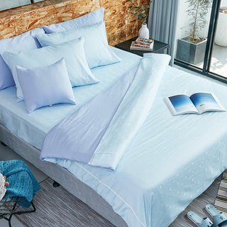 [Ultimate skin-friendly] Collagen skin beauty silk silk locust quilt cover - sky blue