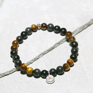 Cool Play Series - Exploring Eye Obsidian x Tiger Eye 925 Sterling Silver Bracelet Natural Stone Custom