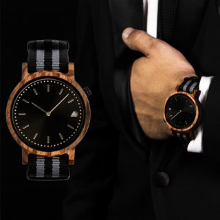 PRIME 1.2.1 Zebrawood Wooden Watch - Black Ops 42mm