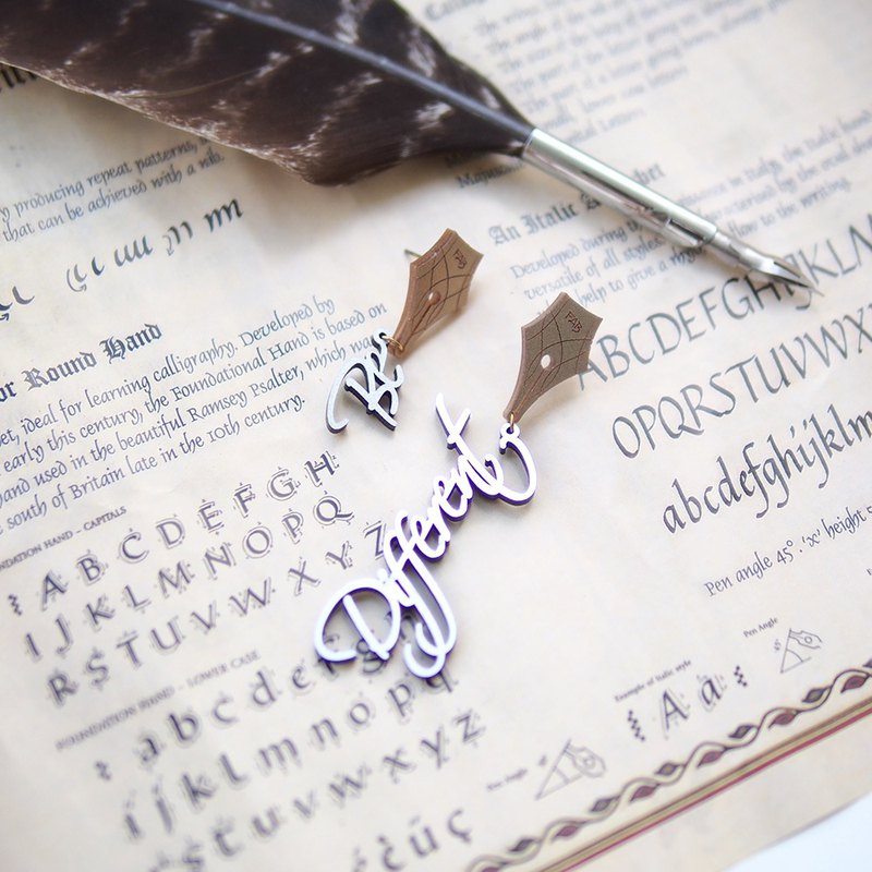 Be Different Calligraphy Earrings