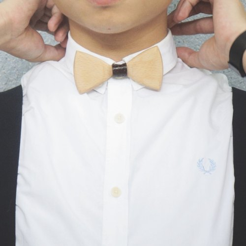 Classic Bow Tie  Red beech