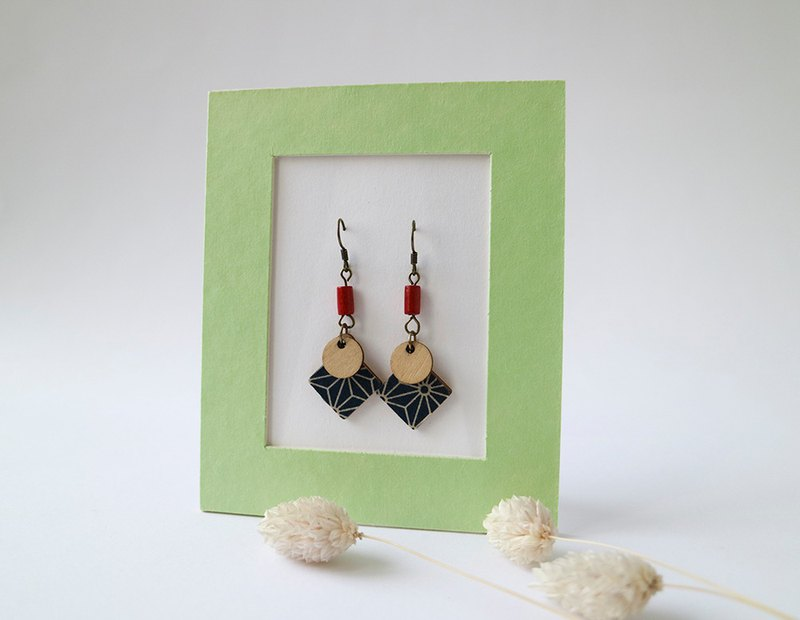 Elegant geometric figure earrings - ear hook