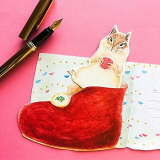 Greeting card/Child's squirrel