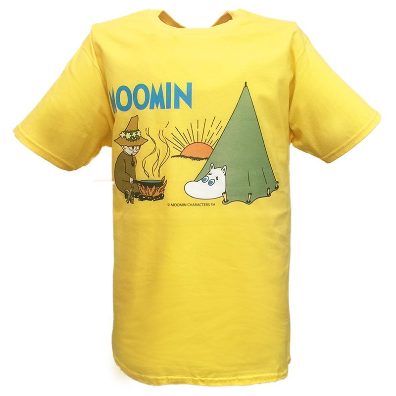 Moomin Lulu meters authorized-T-shirt: [camping] adult short-sleeved T-shirt