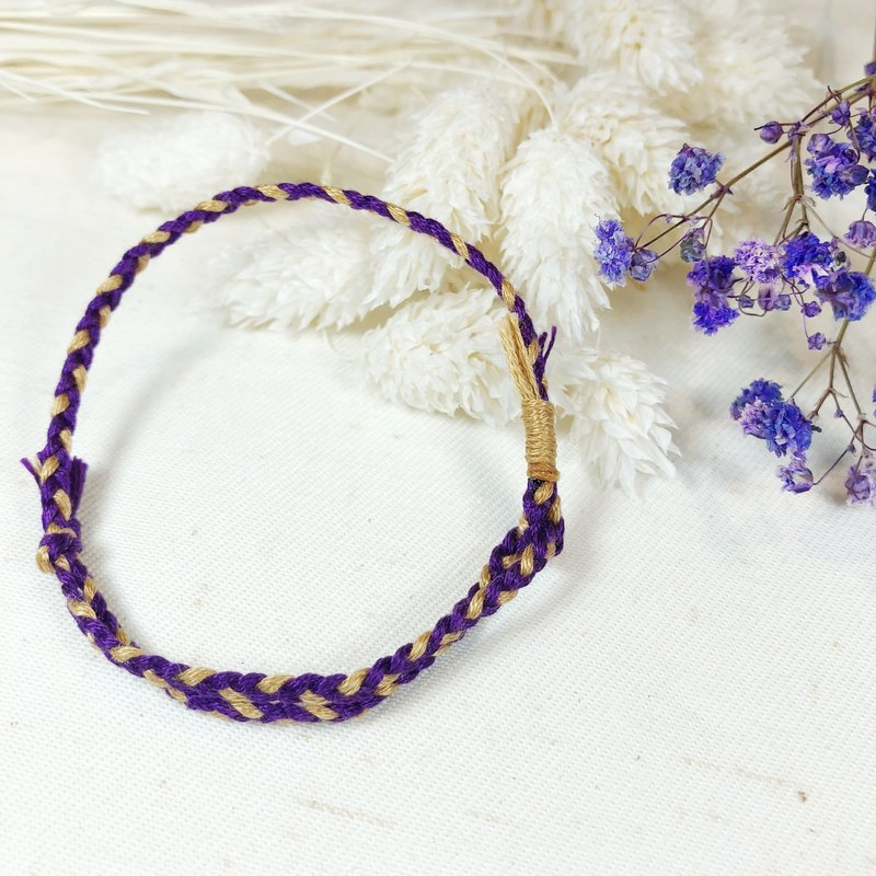 Shimmering Prayer! Lucky Bracelet #z7 菫 Purple