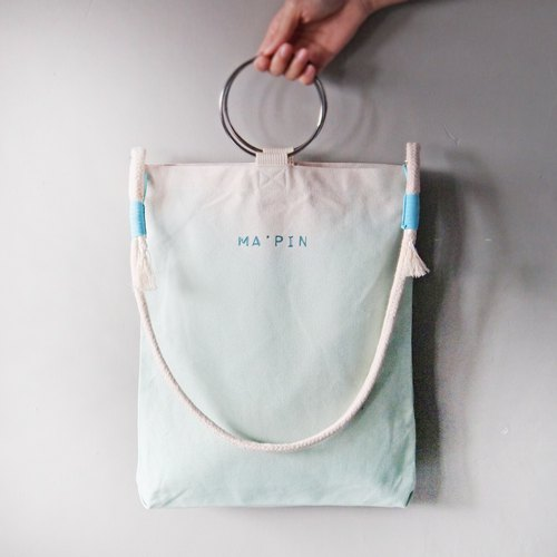 Lake Green Gradient - Hand Dyed Tote