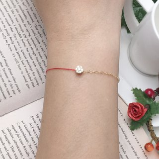 *Le Bonheur happy Line line*Semi Semi chain gilded gold diamond bracelet hand seven small red line red line design models bracelet