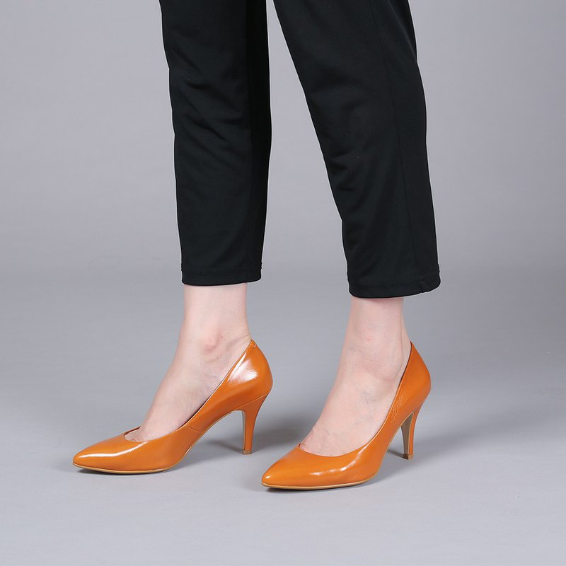 [Fashion] Slightly open-toed sexy pointed muted heeled shoes