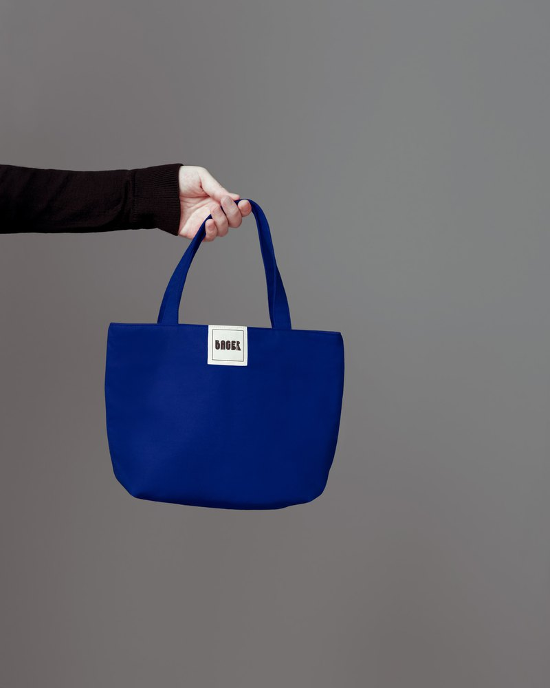 Simple plain canvas / tote bag / lunch bag / sapphire blue