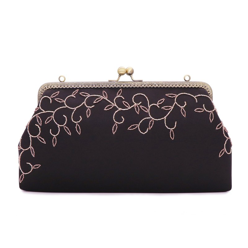 Black Flower/Original design/Beading/Handmade Bag/Shoulder Bag/Banquet bag