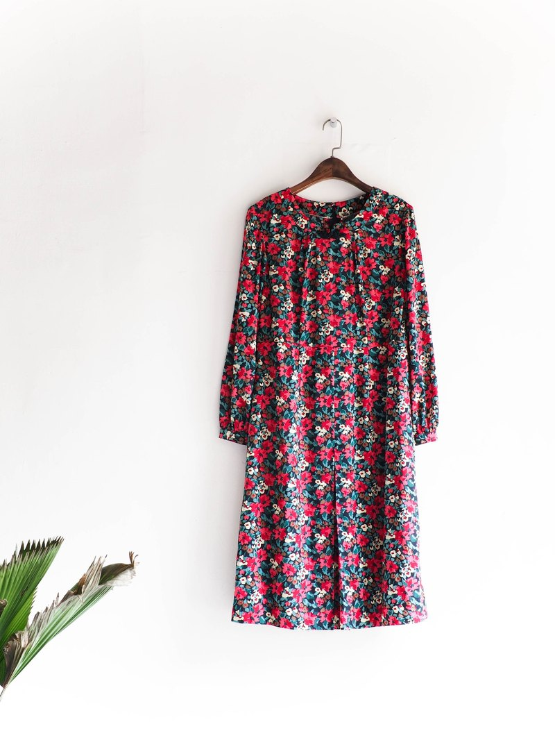 River Water Mountain - Kagoshima spring love floral flower girl antique dress silk dress overalls oversize vintage dress