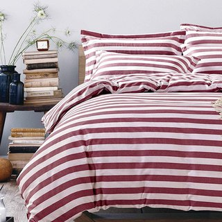 Ikea Fashion (Red) - Double Sided Design 100% Combed Cotton Thin Bed Packs (Double Size)