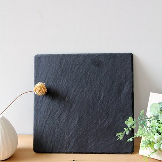 British Selbrae House natural black slate square cutting board / tray 25 cm (two pieces)