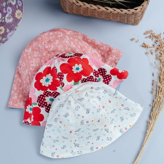 Double-sided fisherman hat cherry blossom Nordic flower transport children's clothing newborn baby parent-child