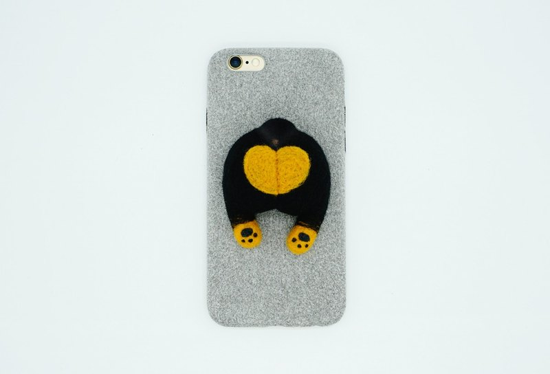 MoonMade Needle Felting Rottweiler Butt Phone Case Wool Felt Lovina Dog Ass