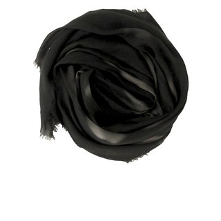 "Limited edition ""Blindspot Mono"" Blind-point silk-blend broad-brimmed scarf made in Italy"