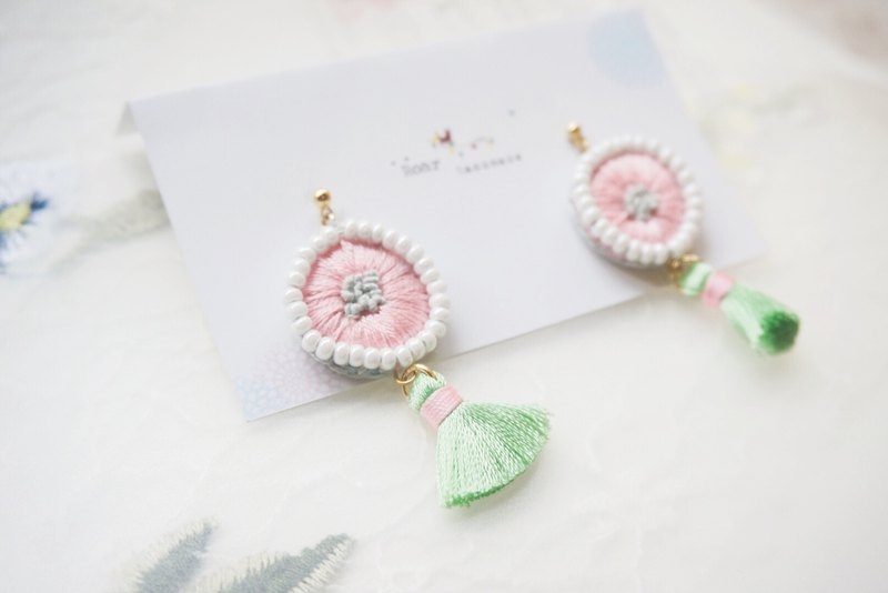 Handmade Embroidery Earrings