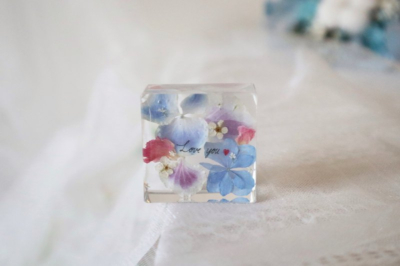 Square stereo flower dry flower decoration / paper town / hydrangea / gift / birthday gift