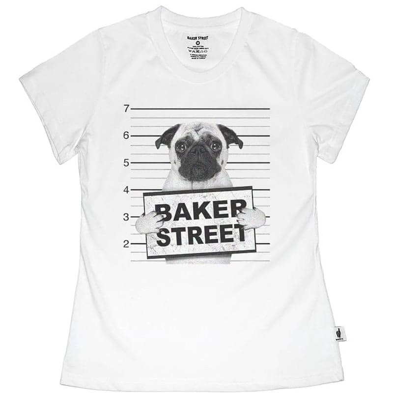 British Fashion Brand -Baker Street- No Good Printed T-shirt