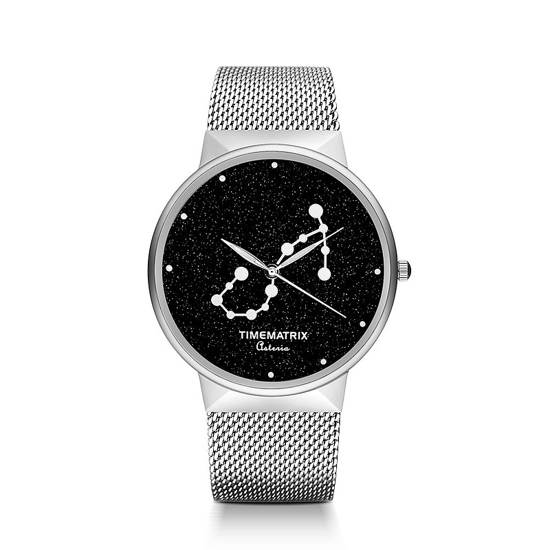 [Denmark] Brilliant Star Time Matrix constellation Scorpio men and women creative fashion quartz watch