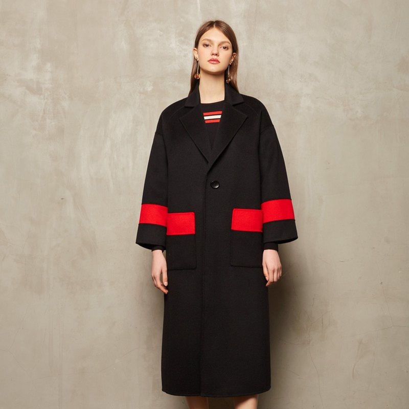 Color matching wool coat [CONTRAST card - JAMIE L.STUDIO]