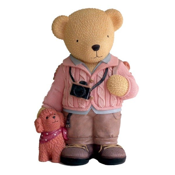 [BEAR BOY] backpack male bear piggy banks - pink sweater