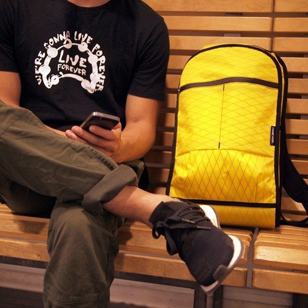 ZIRCON function after minimalist backpack yellow