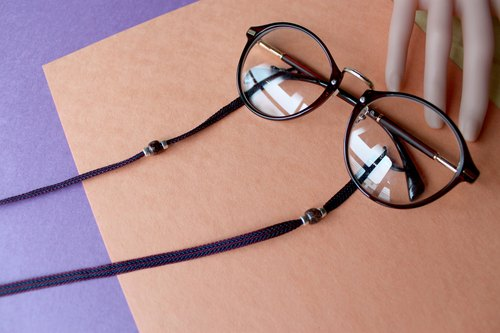 Wave corrugated glasses chain / necklace / bracelet / necklace blue purple