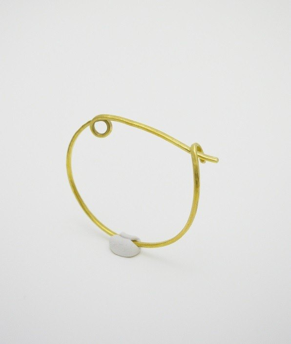 Luky fish-Brass Hook Bangle