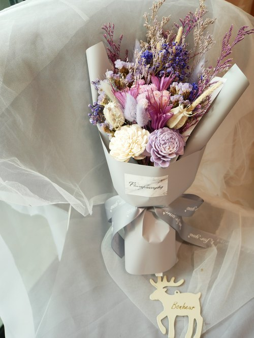 Flower Daily Purple Story Dry Flower Bouquet / Valentines Day / Birthday / Graduation Bouquet