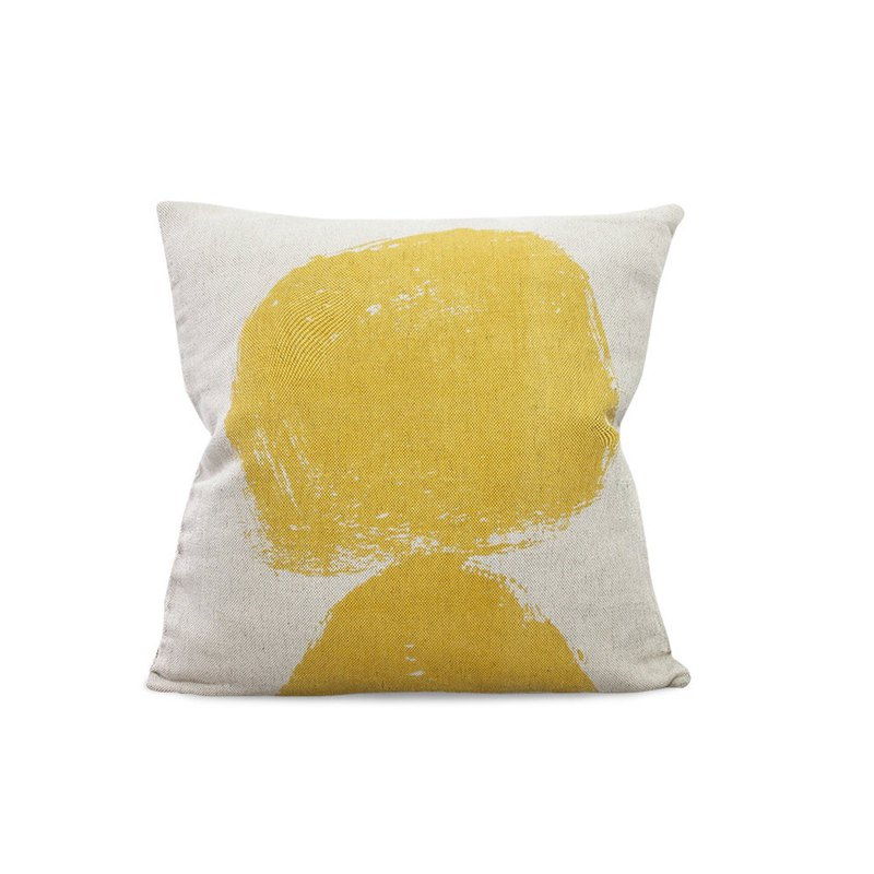 Nordic style designer – pillowcase VOLCANO CUSHION COVER, YELLOW