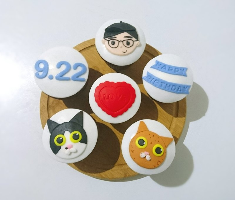 Customized Area】 【exclusive fondant cupcake (6)