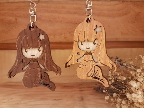 "Taiwan stack ""my zodiac! My life! ""[Customization] Wood carvings Constellation - Pisces gift / key ring"
