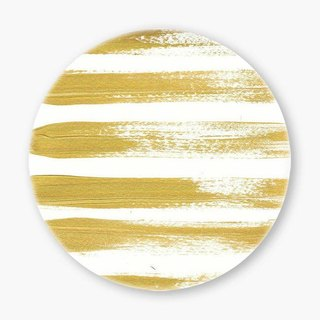 Snupped Ceramic Coaster - Gold Line Pattern Brushstrokes