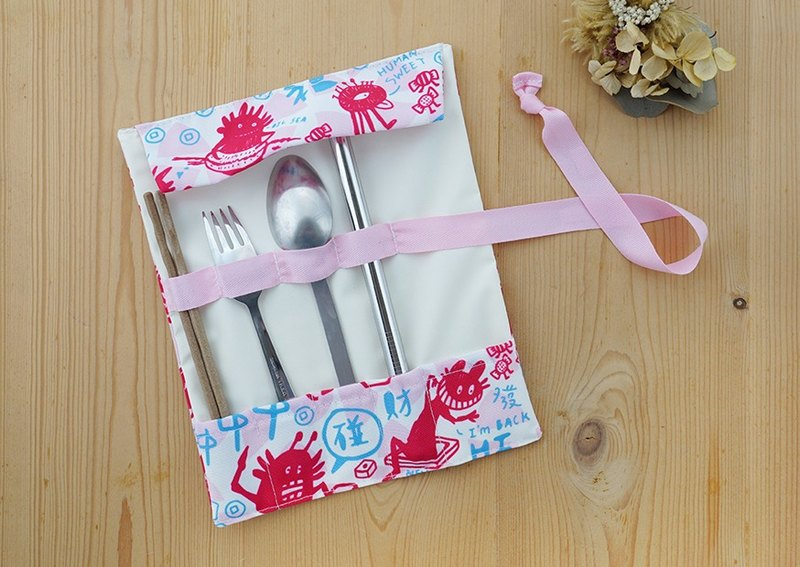 Friends of the tableware volume spring printing (light pink blue)