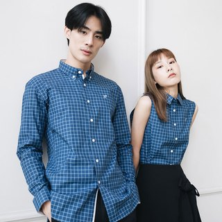 (SIZE S) PREMIUM // navy check // men slim fit