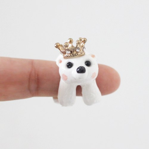 Bear King custom made ring - one of a kind handmade gift