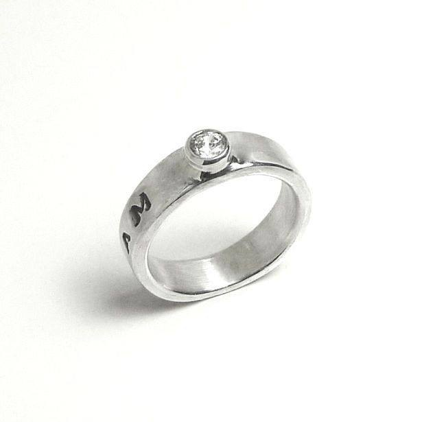 璀璨 Moonlight Diamond Ring Silver Ring