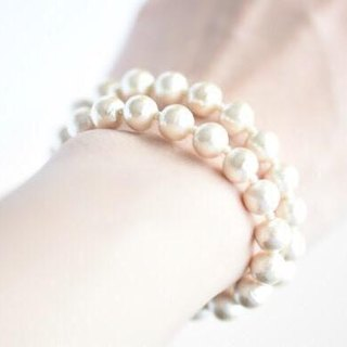 Two bracelet  of the 8mm cotton pearl magnet