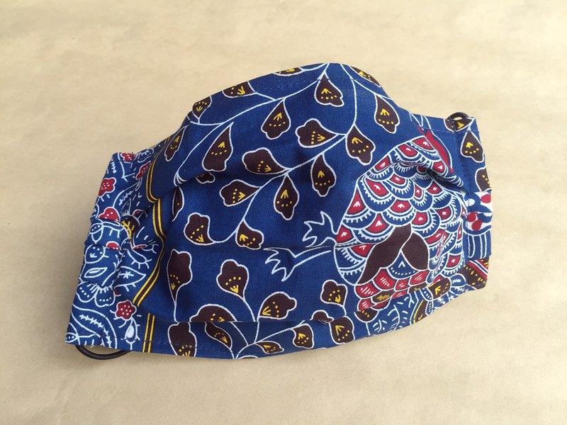非洲花布口罩套-孔雀森林