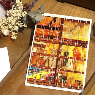 Old House Yan – Window Flower Postcard – 133 Taipei/Dusk Waltz Window Grille