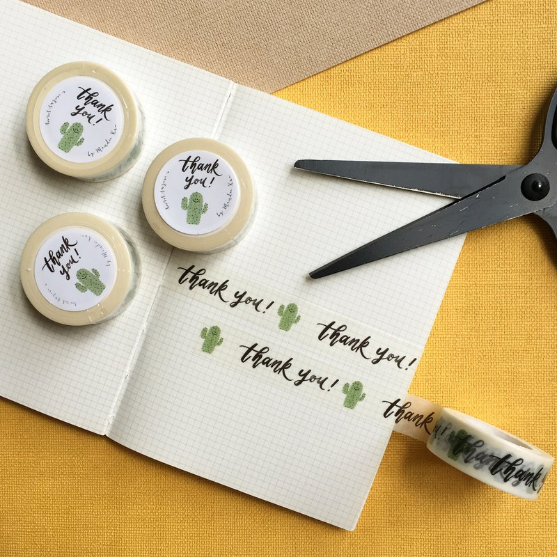 Thankful Cactus - Washi Tape