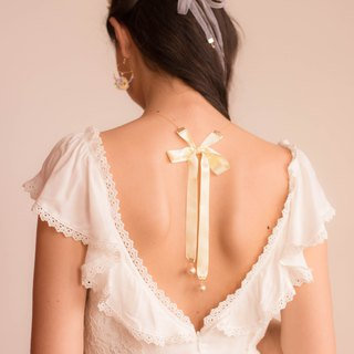 Backyard Gold-plated 925 Silver Ribbon Necklace