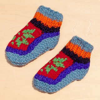 Gift limit births a knitted pure wool warm socks / wool socks child / children wool socks / stockings bristles / Knitting wool socks / children's indoor socks - bright colors wind totem Eastern Europe