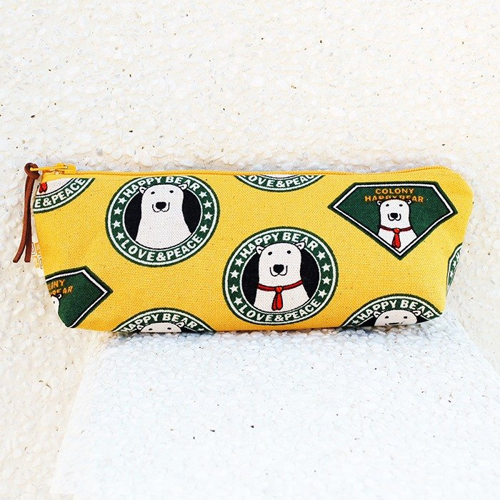 Happy polar bear wide-bottomed pencil case