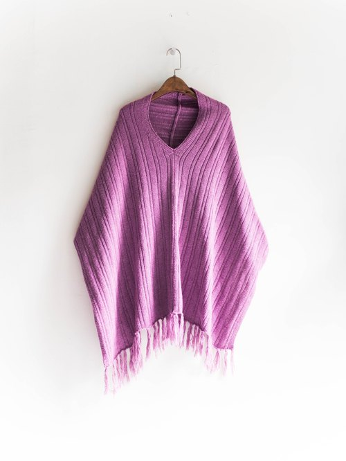River Hill - Violet gently warm the cool antique log woolly cloak blouse shirt to wear two scarves vintage sweater vintage oversize