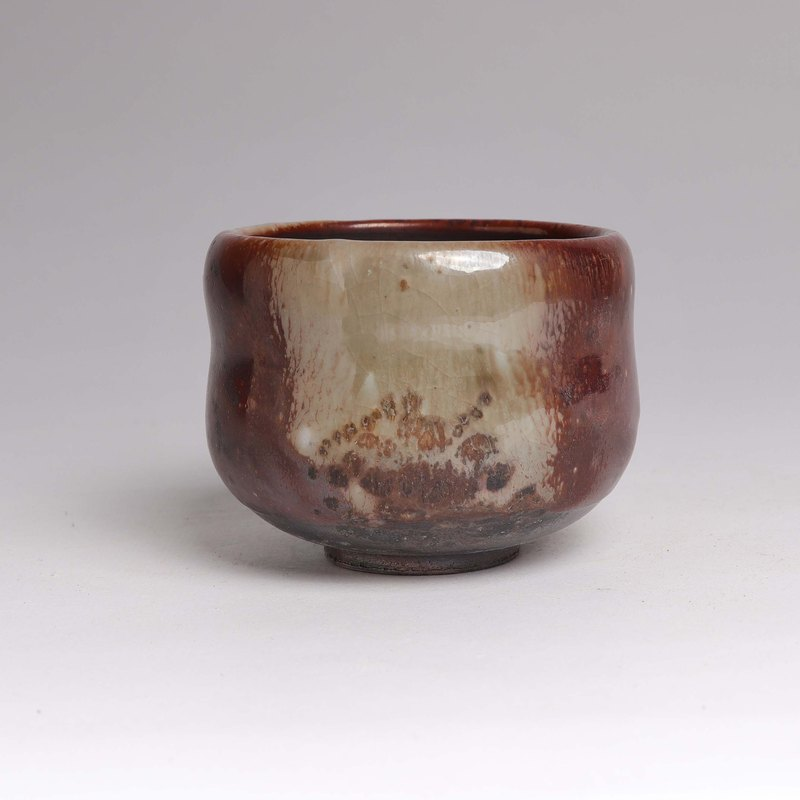 Ming ya kiln l Chai burning Zhiye flying finger ash tea bowl