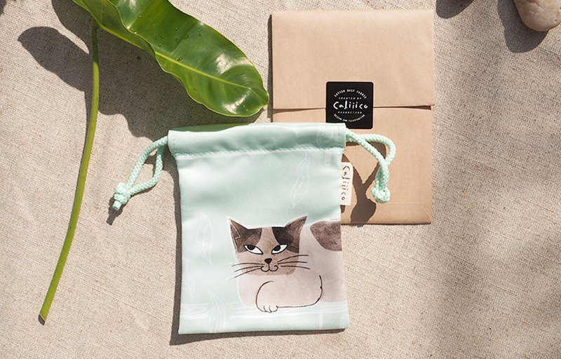 SMALL BAG WITH TWO CAT IN BLUE