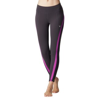 [MACACA] Back-m function straight forward pants - ATE7601 cocoa / black / purple